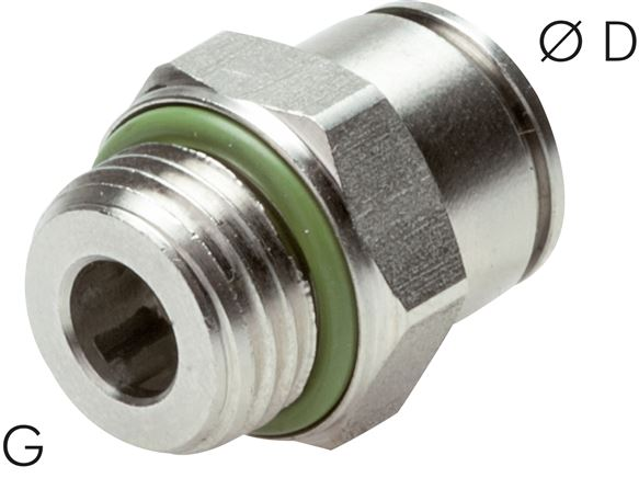 Push-in fittings, cylindrical thread, ES