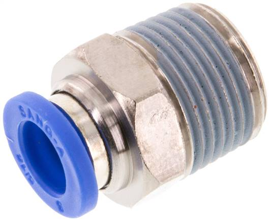 "Straight push-in fitting R 3/8""mm-8mm, IQS standard (IQSG 388)"