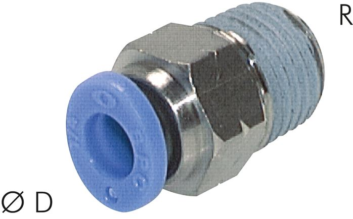 Push-in fittings, Inch