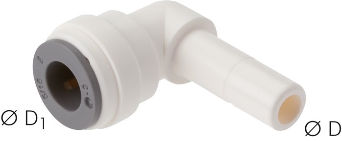 Angle push in fitting4mm push in nipple, IQS-LE (EPDM-seal) (IQSL 40H LE)