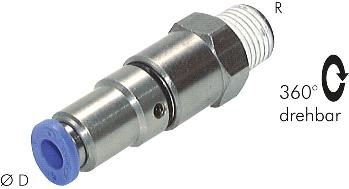Push-in fittings with two ball bearings, Standard