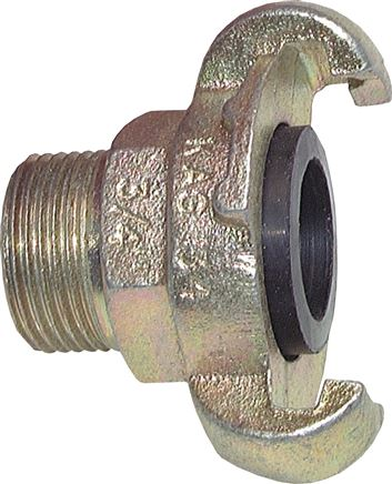 Compressor couplings with male thread (similar to DIN 3489), 42 mm