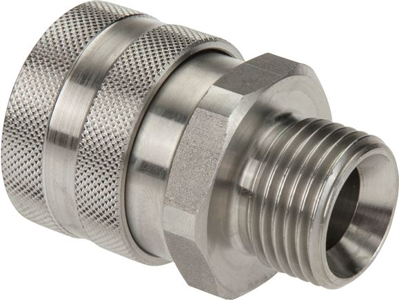 Couplings for foam application & spray guns without shut-off valve