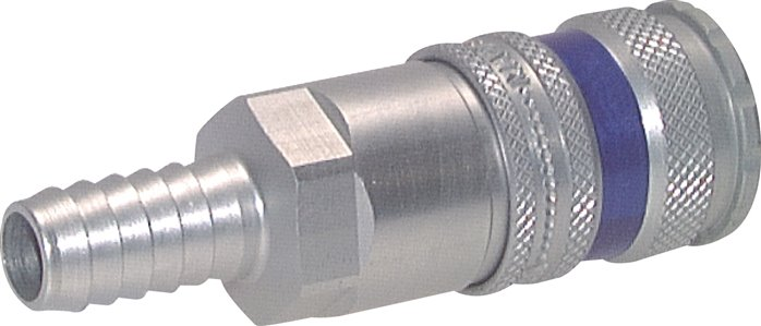 Coupling sockets with hose screw connection, aluminium, NW 7.2 (will be discontinued)