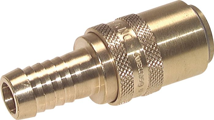 Coupling sockets, hose screw connection, straight, DN 9 (13 mm spigot)