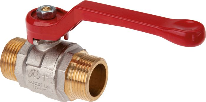 Ball valves with male thread, 2-piece, with full throughway, up to 40 bar