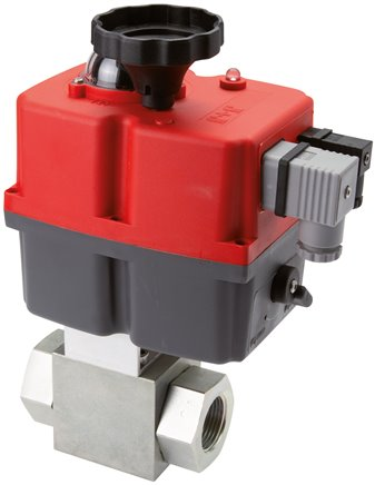 High pressure ball valves with electric rotary actuators, up to 500 bar