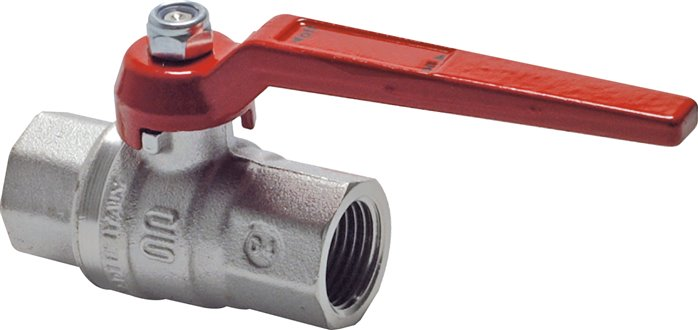 Ball valves, 2-piece, with full throughway, silicone free, up to 80 bar