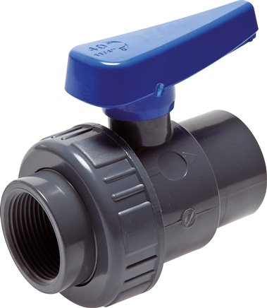 Single ring ball valves with FT. PVC-U water design (for plastic threads), up to 16 bar