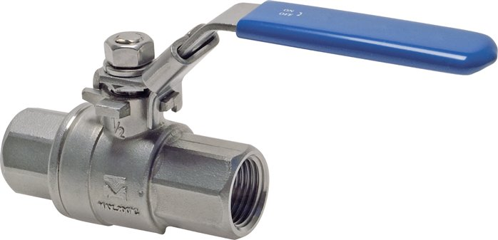 Stainless steel ball valves, 2-part, full bore, PN 63 (Eco-line)