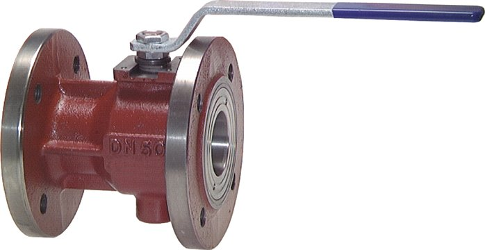 Flanged ball valves, 1-part, with full throughway, PN 16