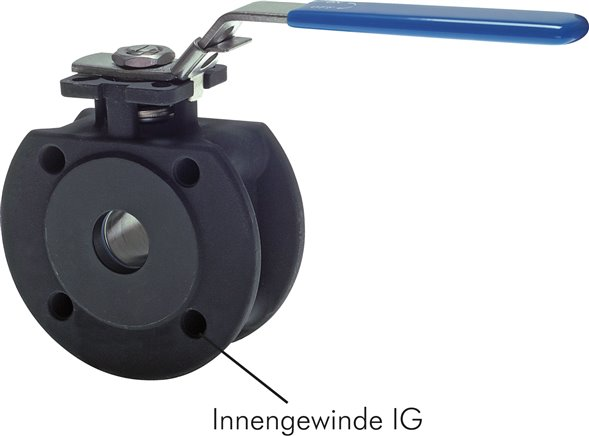 Compact flanged ball valves with full throughway, PN 16/40