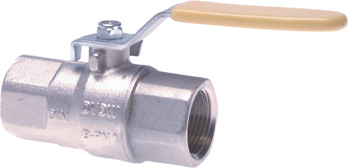 Ball valves, 2-part, brass, for use in oxygen systems, PN 30