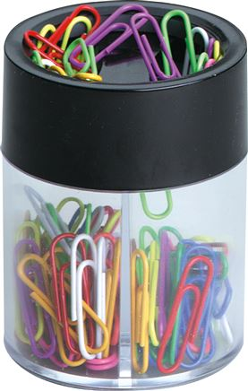 Magnetic dispensing box for paper clips