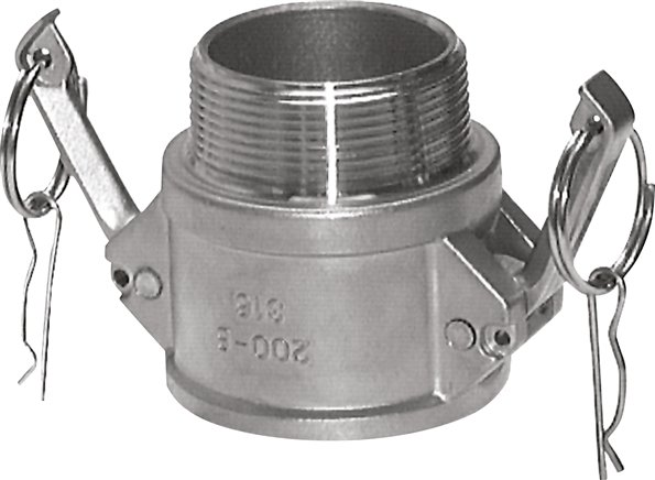 Quick coupling sockets with male thread, type B