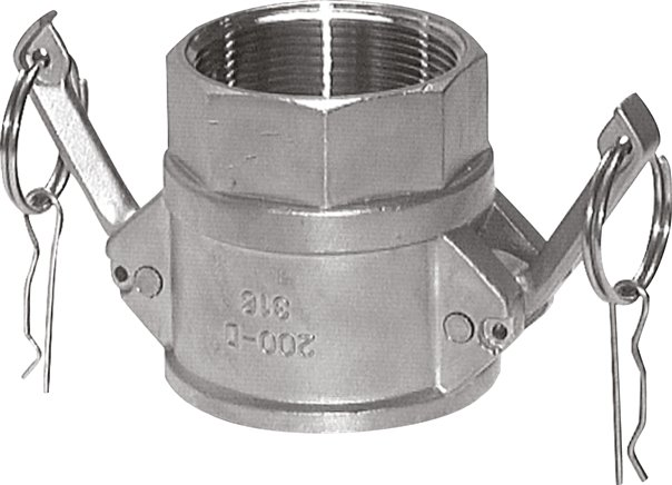 Quick coupling sockets with female thread, type D