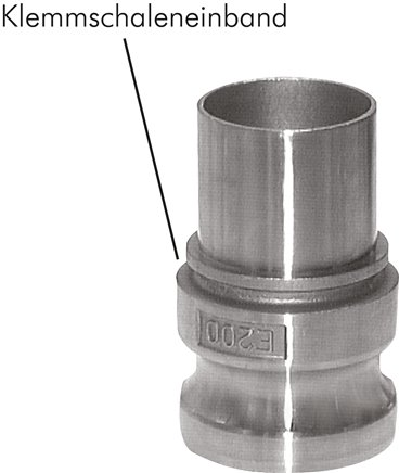 Quick action chucks with hose screw connection, EN 14420-7 (DIN 2828), type E