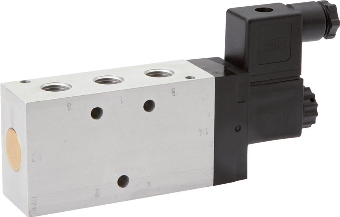 5/2-way solenoid valves, Series KM