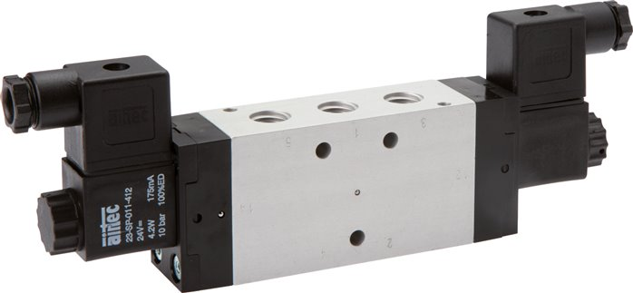 5/2-way solenoid impulse valves, Series KM
