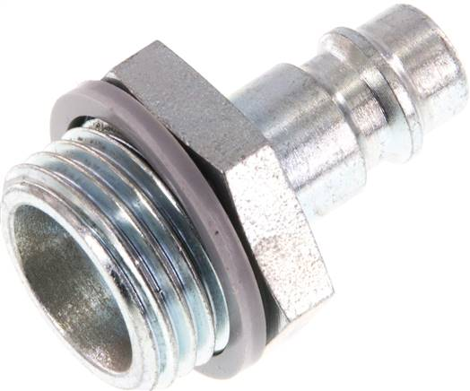 "Coupling plug (NW7,2) G 1/2""(male thread), Hardened steel & zinc plated (KSG 12 NW7 ST)"