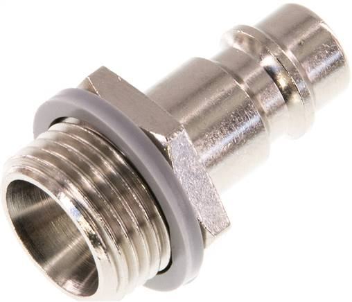 "Coupling plug (NW7,2) G 3/8""(male thread), Nickel-plated brass (KSG 38 NW7 MSV)"