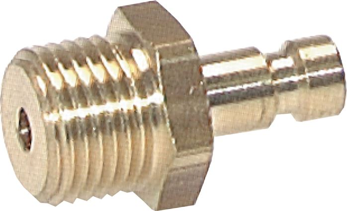 Coupling plugs with male thread, NW 2,7