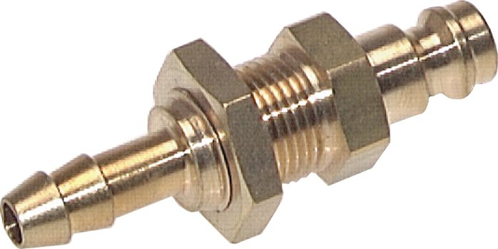 coupling plug with hose screw connection & bulkhead thread, NW 5