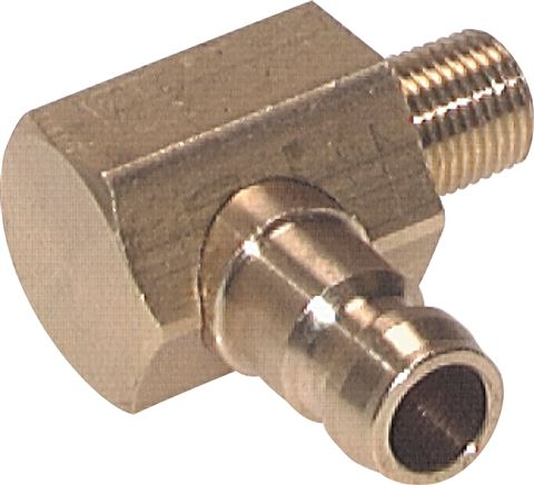 Coupling plugs, male thread 90° without valve, DN 6 (9 mm spigot)