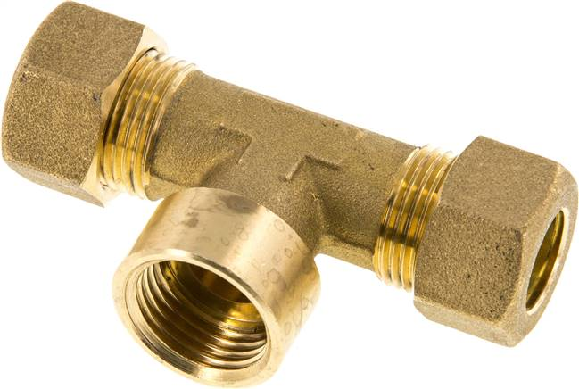 "T compression ring fitting G 1/2""-14mm, brass (KTAI 1214 MS)"