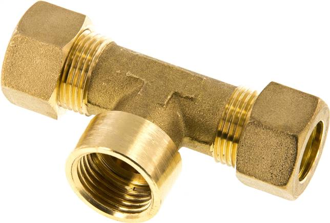 "T compression ring fitting G 1/2""-15mm, brass (KTAI 1215 MS)"