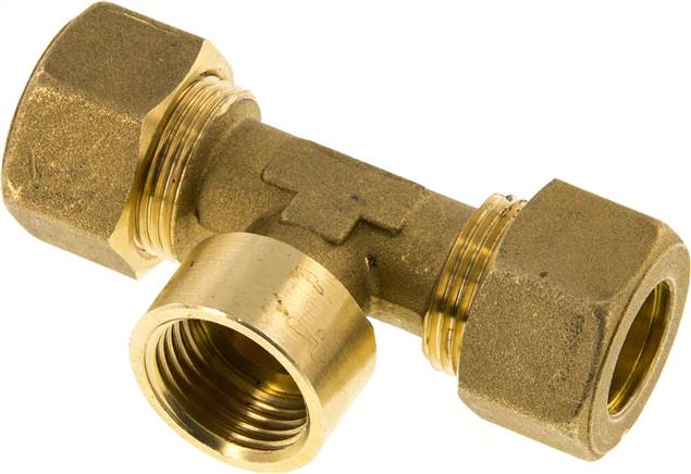 "T compression ring fitting G 1/2""-16mm, brass (KTAI 1216 MS)"