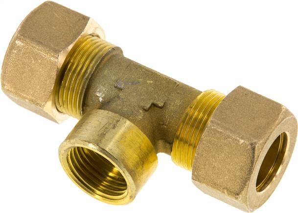 "T compression ring fitting G 1/2""-18mm, brass (KTAI 1218 MS)"