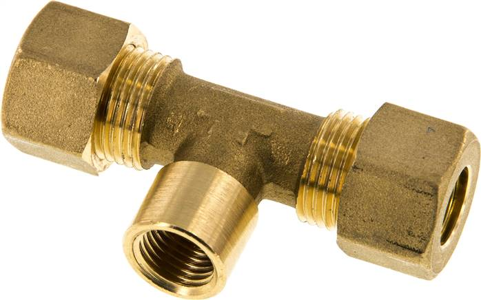 "T compression ring fitting G 1/4""-12mm, brass (KTAI 1412 MS)"