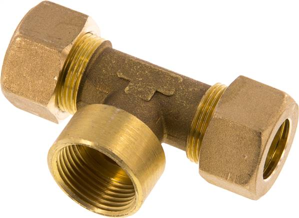 "T compression ring fitting G 3/4""-18mm, brass (KTAI 3418 MS)"