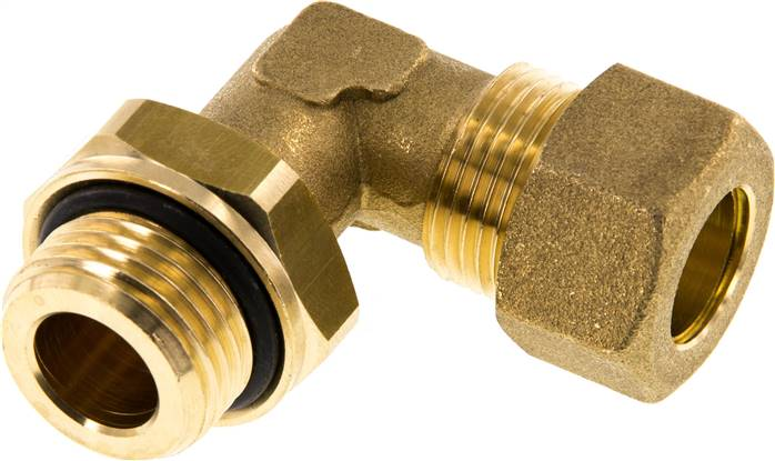 "Elbow compression ring fitting G 1/2""-14mm, brass (KWE 1214 MS ED)"