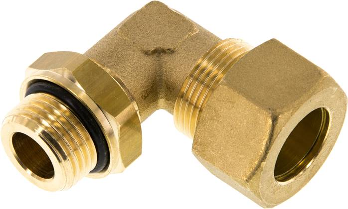 "Elbow compression ring fitting G 1/2""-18mm, brass (KWE 1218 MS ED)"