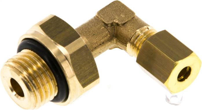 "Elbow compression ring fitting G 1/4""-4mm, brass (KWE 144 MS ED)"