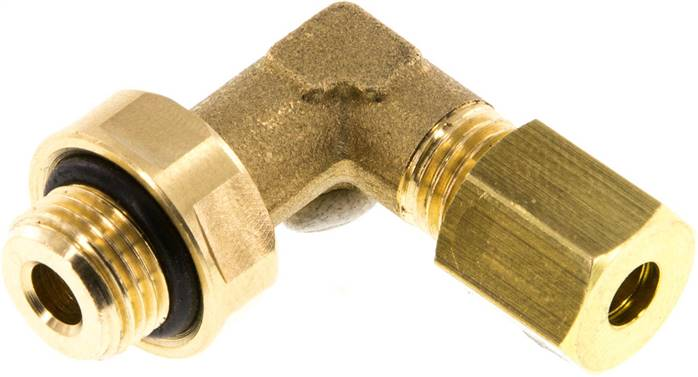 "Elbow compression ring fitting G 1/8""-4mm, brass (KWE 184 MS ED)"