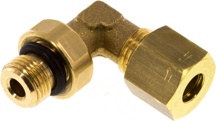 "Elbow compression ring fitting G 1/8""-6mm, brass (KWE 186 MS ED)"