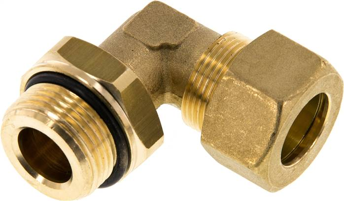 "Elbow compression ring fitting G 3/4""-18mm, brass (KWE 3418 MS ED)"