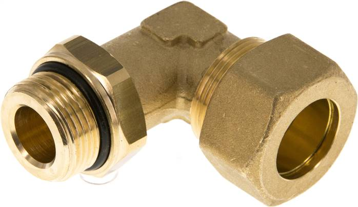 "Elbow compression ring fitting G 3/4""-22mm, brass (KWE 3422 MS ED)"
