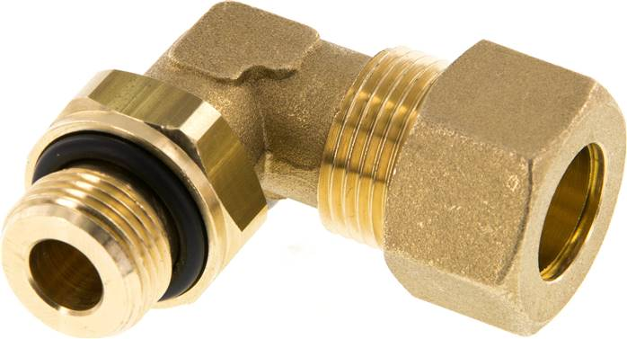 "Elbow compression ring fitting G 3/8""-14mm, brass (KWE 3814 MS ED)"