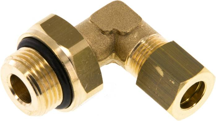 "Elbow compression ring fitting G 3/8""-8mm, brass (KWE 388 MS ED)"