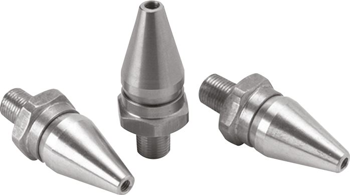 Adjustable air saving nozzles (for blow guns / pipe installation)
