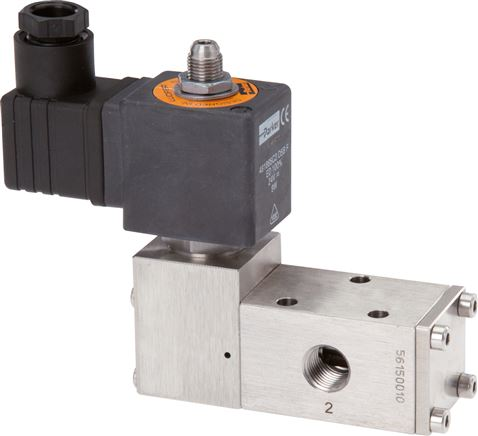 3/2-way & 5/2-way solenoid valves made of stainless steel