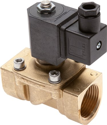 2/2-way solenoid valves made of brass, force pilot operated
