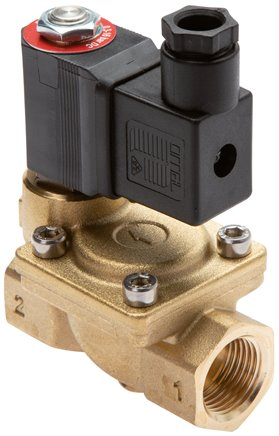 2/2-way solenoid valves from brass