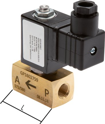 2/2-way vacuum valves - direct control without external air
