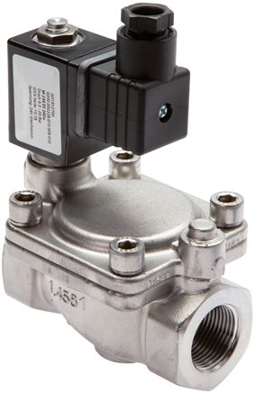 2/2-way solenoid valves from stainless steel