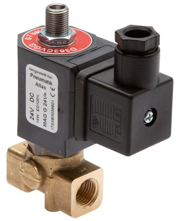 3/2-way solenoid valves from brass